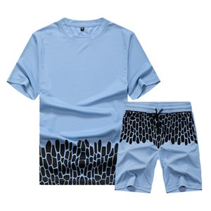 Men's Set T-shirt and Pants Two Piece Set Summer Autumn Sport Suits Fashion Casual Short Sleeve Youth Sets
