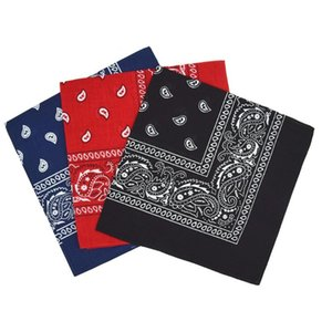 #H25 3PC Handkerchief Double-Sided Printing Men's And Women's Turban Cotton Square Scarves Bandanas UV Protection Neck Gaiter