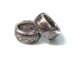 90٪ من الفضة مورغان دولارات خاتم الحرة الشحن رخيصة السعر مصنع جودة عالية الساخن بيع