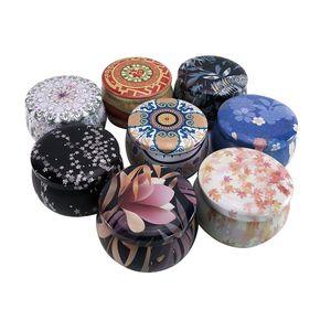 en forma de tambor DHL Tea Pot caja de la lata Inicio Jardín Personalidad caja del caramelo de la caja de caramelo galleta de la caja hecha a mano de la vela del jabón tarro de embalaje