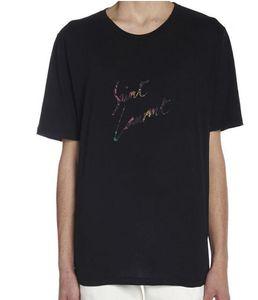Luxury Europe Milano Paris 고품질 Oversize Tshirt 남성 여성 Sinners Golden Print T Shirt 캐주얼 코튼 티 탑