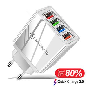 4 ports USB 3.0 Chargeur Charge rapide charge rapide pour Xiaomi Mi Note 10 Pro Portable EU Plug Tablet mur mobile adaptateur chargeur