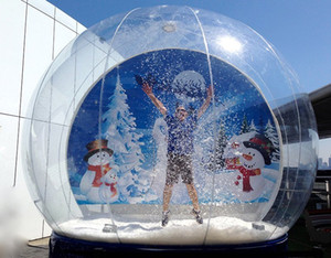 2M 3M 4M Dia Inflatable Snow globe Human Size Snow Globe For Christmas Decoration Popular Clear Photot Booth For People Inside