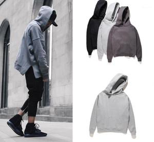 Mens Designer Hoodies Bottom Spilt Ribbed Long Sleeve Fleece Hoodie Fashion Solid FOG Sweatshirt1