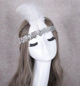 Блесток страус смолы драгоценный камень перо оголовье костюм необычные платья танцы партии Hairband косплей индейцы реквизит партия выступает