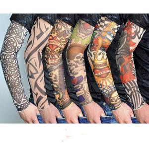 Tatuagem Elastic mangas braço Warmer Unisex Proteção UV Outdoor temporária Falso Tattoo Arm Sleeve Warmer luva New Fashion