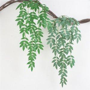 Искусственные листья ивы Vine Поддельные растения DIY Искусственные букет Artificial Листва для дома Свадебное Forest Party Decoration