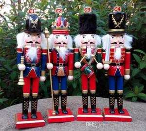 30CM Natale in legno Schiaccianoci Soldati Burattino Zakka Creativo Decorazione del desktop Ornamenti di Natale di grandi dimensioni Disegno Noci Soldato 88