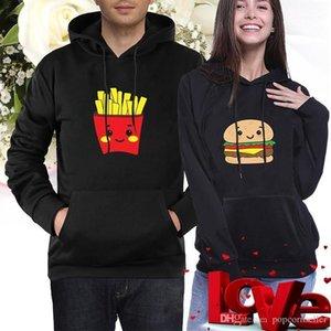 Burger Fries Printed Casual Hoodie Digital Print Hoodie Couples Clothing New Pair Print Hoodies Long Sleeve Autumn and Winter