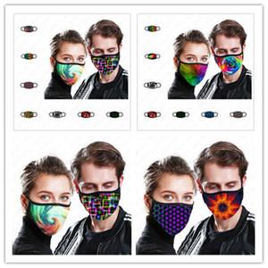 39 أنماط للجنسين قابلة لإعادة الاستخدام الوجه قناع مصبوغ التعادل طباعة الكبار الرقمية مصمم الغلاف الفم قناع قابل للغسل القطن 2 طبقات واقية من الغبار قناع D52006