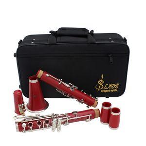 Ayarlama B Soprano Nikel Kaplama Müzik Aletleri Profesyonel Üflemeli Instruments Falling SLADE 17 Anahtar Klarnet