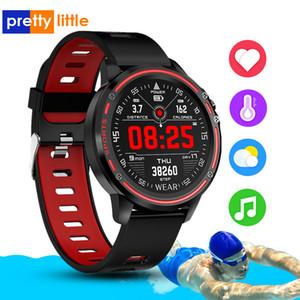 Winsun L8 inteligente Hombres del reloj de IP68 a prueba de agua Reloj Hombre de presión Modo SmartWatch Con ECG PPG Sangre de ritmo cardiaco relojes de los deportes de la aptitud