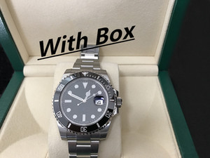 Mens Relógios Qualidade Ceramic Bezel 116610 homens de aço inoxidável Strap Relógio Mecânico Automático 2813 Movimento relógio de pulso Sapphire