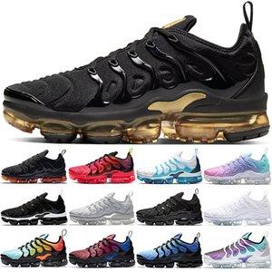 Nike Air Max Vapormax Tn Plus Vapor ARTı Koşu Ayakkabıları Erkek Kadın Üçlü Beyaz Siyah Zebra mavi Turuncu Üzüm Erkek Eğitmen Spor Sneakers Chaussures Boyutu 36-47
