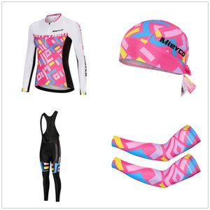 2020 Mieyco 4 pcs Full Cycling Jersey set Long Sleeve MTB Bike Maillot arm shoe covers warfer cap Spring Bicycle Clothing