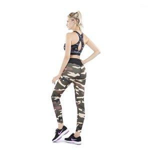 Designer Pants Sexy Patchwork Sport Yoga Leggings Slim Fitness Casual Womens Pencil Pants Skinny Camouflage Women