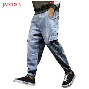 Jaycosin 2020 İlkbahar Sonbahar Jeans Mens Casual Japonya Stili Denim Pantolon Serbest Fit Cep Pantolon Yeni Marka Harem Pantolon Erkekler