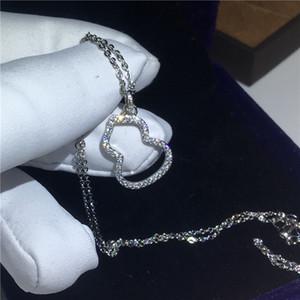 2018 Dazzling Gourd forma pingente Com colar 925 Sterling Silver 5A zircão Cz de Noivado casamento Pingentes para as mulheres Presente