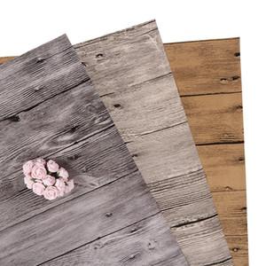 madeira grão papel fotográfico pano de fundo textura de madeira velha capa impermeável filme de PVC fotografia fundo material de atirar jóias fruta imagem