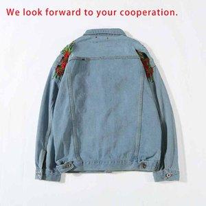 Designer Giacca di jeans Felpa con cappuccio primavera antumn Moto causale uomini e le donne di marca di jeans con cappuccio di lusso stile giacca di jeans