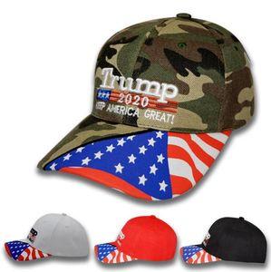 4styles Donald Trump beyzbol şapkası Yıldız ABD Bayrağı Kamuflaj kapağı Amerika Büyük 2020 Şapka 3D Nakış Harf ayarlanabilir Snapback A0072 tutun