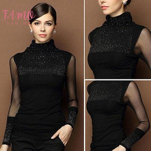 M 3Xl Sexy Lace Tops Autumn 2020 Blusas New Slim Plus Size Lace Blouse Long Sleeve Casual Shirt Beaded Openwork Women Clothing