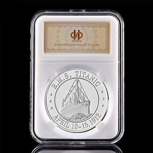 Banhado a prata Souvenir Coin 1912 Abril 10-15 Vítimas RMS Titanic 100 Anniversary lembrança moedas de coleta W PCCB Box /