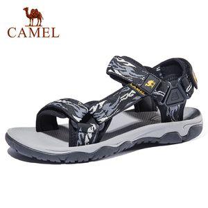 CAMEL Men's Sandals Summer New Lightweight Non-slip Wear Men's Shoes Outdoor Beach Sandals Men Casual Shoes Y200702