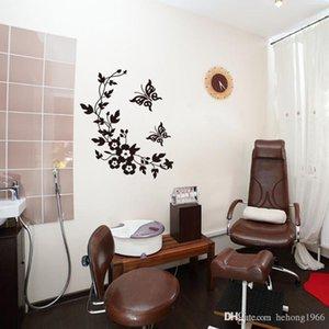 Wall Sticker Papillon de vigne de fleur Decal Preuve de l'eau multi fonction salle de bains toilettes Porte Paste Home Decor 3 2GF F R