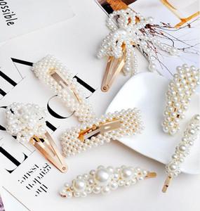 2019 New Limited Barrettes Clips Aleación de Regalo de Las Mujeres Blanco No Fashion Women Girl Oro Plata Perla Barrette Horquilla Horquilla Accesorios para el cabello