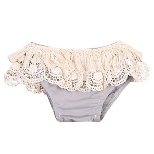 Cute Baby Kids Girl Lace Floral Tassels Shorts Briefs Clothes Summer New 0-24M