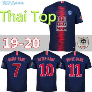 19 20 psg Notre Dame futbol formaları ev mbappe maillot de ayak 2018 2019 Paris CAVANI Yama üçüncü camisetas futbol futbol gömlek