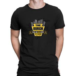 Camiseta de otoño del resorte Tamaño Lema Euro Keystone Burgh camisetas las imágenes impresas transpirable tapa del estallido camiseta de los hombres de Anlarach Loose