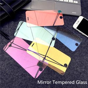 9H colorido protector de pantalla Espejo vidrio templado para el iPhone 11 Pro Max Caso cubierta completa de la película del protector de protección 2019