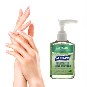 60ml Antibacterial Press Head Amino Acid Hand Sanitizer Gel Effective Disinfection Hand Cleaner Disposable Rinse Free Gel Travel