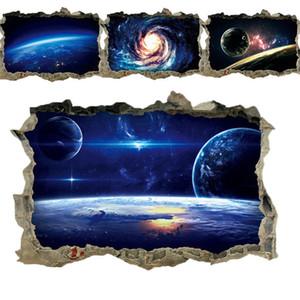Kreative 3D Universe Galaxy Wand-Aufkleber für Decke, Dach-Fensteraufkleber-Wanddekoration Personality Wasserdichte Bodenaufkleber