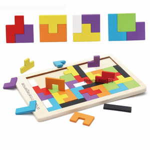 Renkli Ahşap Tangram Zeka Bulmaca Oyuncak Tetris Oyunu Okul Öncesi magination Fikri Eğitim Kid Oyuncak GYH
