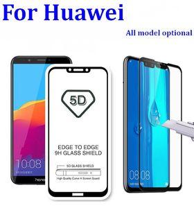 9H 3D 5D 9D Full glue Screen Tempered Glass Protector Film For Huawei p20 p10 p9 p8 lite plus Mate 20 10 9 pro Y6 nova 3 3i