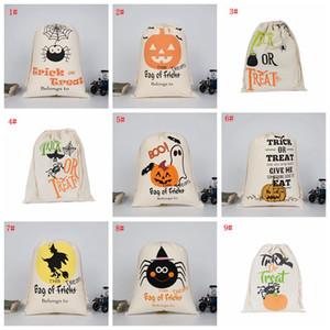 Хэллоуин хранения холщовый мешок большой емкости Одежда Sundries Drawstring сумка Хэллоуин конфеты мешок подарка Организатор мешок Оптовая VT0429