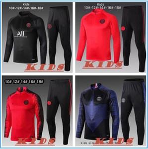Paris tracksuit new 2019 Psg KIDS soccer Training suit 18 19 20  Psg MBAPPE POGBA CAVANI maillot de foot hoodie child Sportswear jacket kit