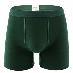 Uomo Add Velvet Underwear inverno spesso cotone tenere in caldo Shorts più lunghe gambe Boxers pantaloni mutande termiche Boxer da uomo