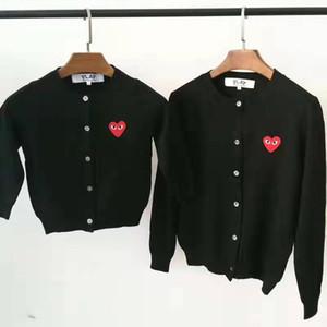 Hochwertiges klassisches Hot Love Kennzeichnung Strickjacke Pullover Design-Marken von Männern und Frauen, reine Farbe Langarm-T-Shirt