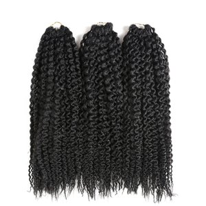 3Pcs Lot Synthetic Braiding Hair Extensions Freetress Pre Loop Island Kinky Curly Crochet Braids Twist jumbo Black Blonde Brown Kanekalon