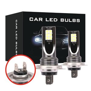 2PCS H7 80W Single Hi Lo Beam Car Headlight White LED Fog Lamp Bulb Conversion Kit W  Aluminum Shell 6000K DC 9-32V 10000LM