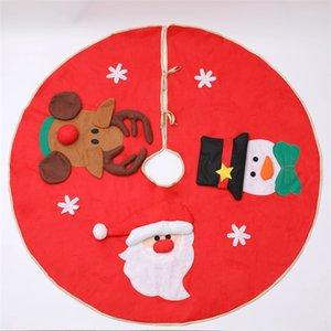 """39,4"""" / 100cm Weihnachtsbaum-Rock-Weihnachtsmann Schneemann Deer Tuch Unterbodenmatte Abdeckung Ornaments Weihnachtsbaum-Feiertags-Party-Dekoration JK1910"""