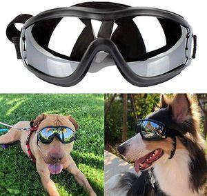ПЭТ защитные очки Солнцезащитные очки для собак очки для собак УФ защита ветрозащитный пылезащитный противотуманный с регулируемым ремешком для средней или большой собаки