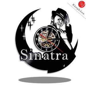 KingLive Frank Sinatra Vinyl Wanduhr für Freund oder Freundin Geburtstag Einzigartige Retro Wanddekoration Artwork