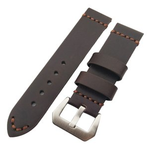 Leather Band HQ 26mm 22mm New Or Brown Watch Genuine Thick 24mm Strap Black Mlexx
