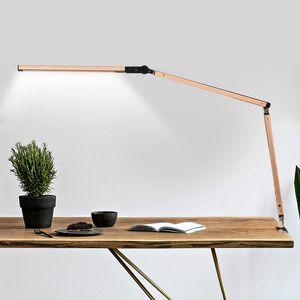 LED 데스크 램프 건축가 작업 램프 금속 스윙 암 원격 조종 장치가있는 디머 블 테이블 램프 고도로 조정 가능한 작업대 조명 영국 미국 EU AU 플러그