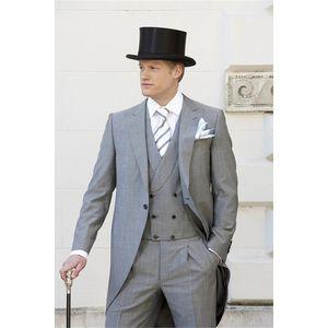 2019 fashion design groom tuxedo men's wedding dress men's formal   dance   dinner suit custom (jacket + pants + vest tie)
